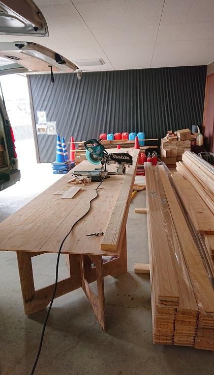 桧板材の加工