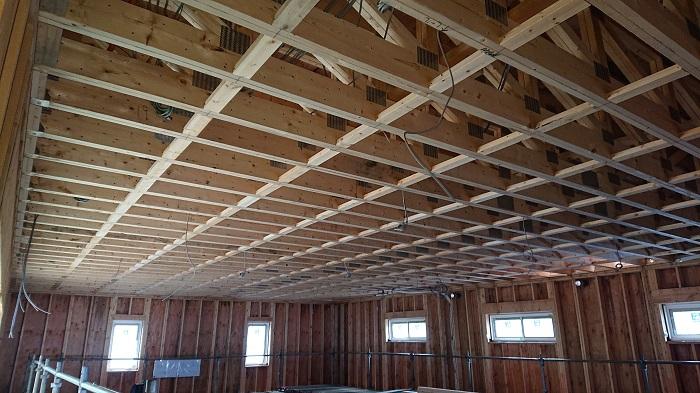 内部天井の下地組